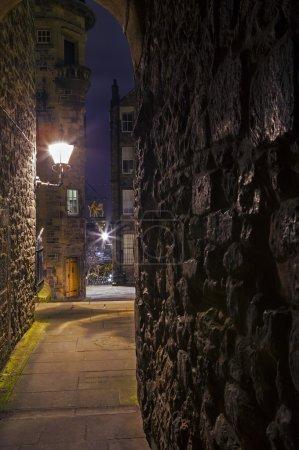 Photo pour La belle dame escaliers Close dans la ville d'Édimbourg, en Écosse. - image libre de droit