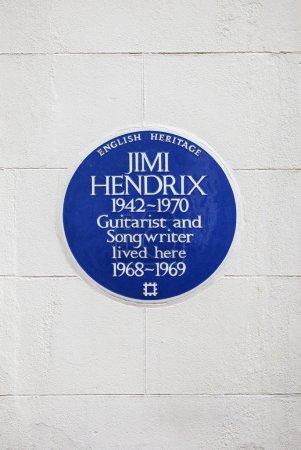Jimi Hendrix Plaque in London