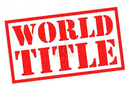 WORLD TITLE Rubber Stamp