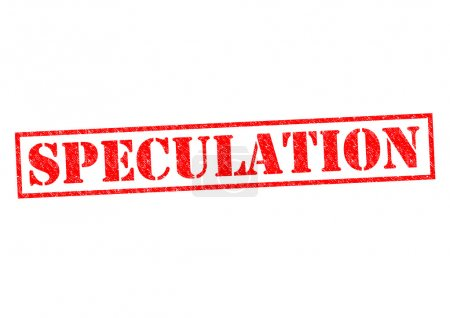 SPECULATION red Rubber Stamp over a white backgrou...