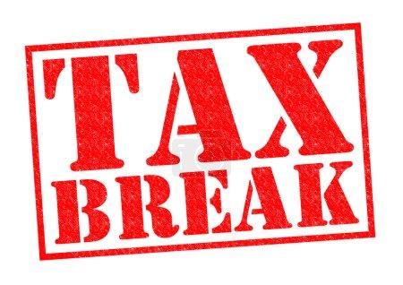 Photo pour Taxe tampon Break rouge sur fond blanc. - image libre de droit