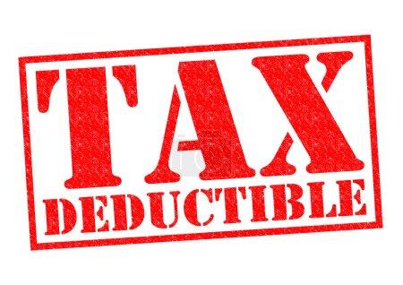 Photo pour Taxe déductible encreur rouge sur fond blanc. - image libre de droit