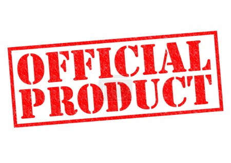 Photo pour PRODUIT OFFICIEL Timbre en caoutchouc rouge sur fond blanc . - image libre de droit