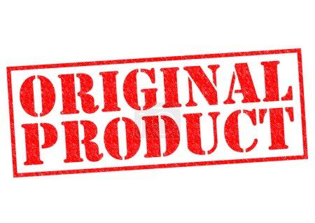 Photo pour PRODUIT ORIGINAL Timbre en caoutchouc rouge sur fond blanc . - image libre de droit