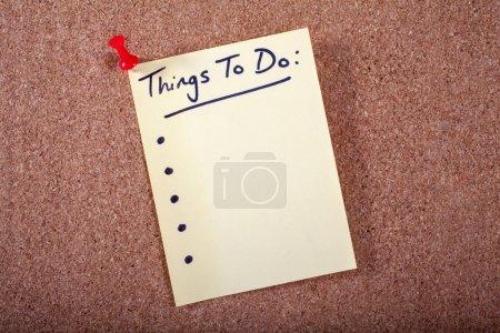 Lista de cosas que hacer