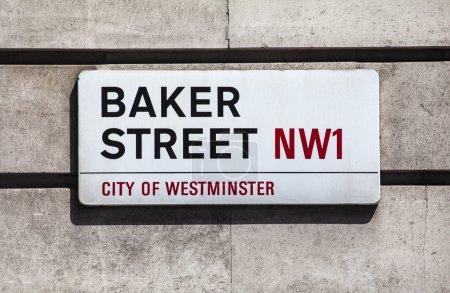 Baker Street Sign in London