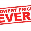 LOWEST PRICE EVER! red Rubber Stamp over a white b...