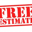 FREE ESTIMATE red Rubber Stamp over a white backgr...