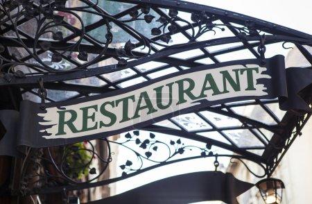 Signo del restaurante