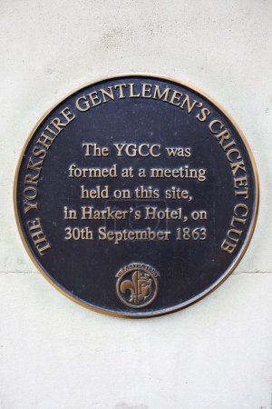 Yorkshire Gentleman's Cricket Club Plaque in York