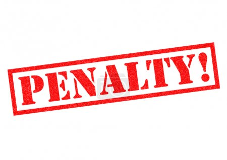 PENALTY! Rubber Stamp