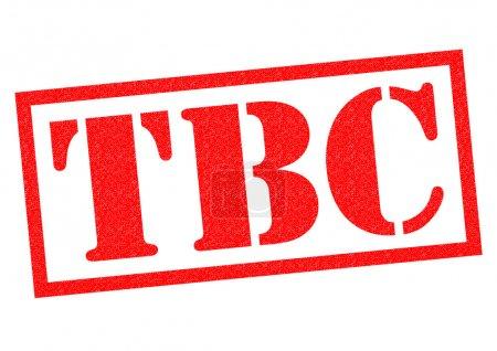 Photo pour Timbre en caoutchouc TBC rouge sur fond blanc. - image libre de droit