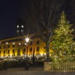 A Christmas tree at St. Katherine Docks in London....