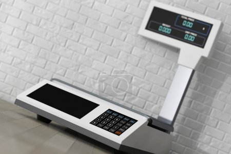 Electronic Scales for weighing Food. 3d Rendering
