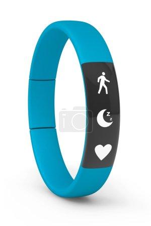 Blue Fitness Tracker