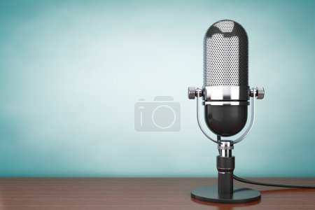 Old Style hoto. Retro Microphone
