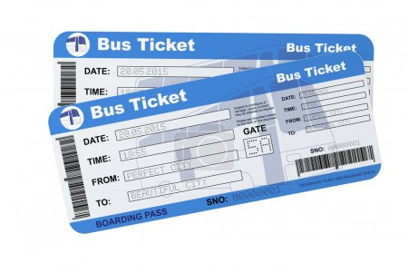Bus boarding pass tickets