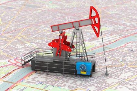 Pump Jack Oil Crane 3d rendering