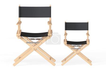 Photo pour Cinéma Industrie Concept. Réalisateurs Chaires sur fond blanc - image libre de droit