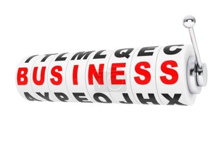Photo pour Métiers de signes pour un jackpot sur une machine à sous de roues sur fond blanc - image libre de droit