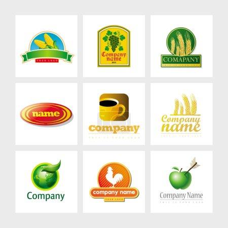 Illustration for Set of 9 vector elements for logo design - Royalty Free Image