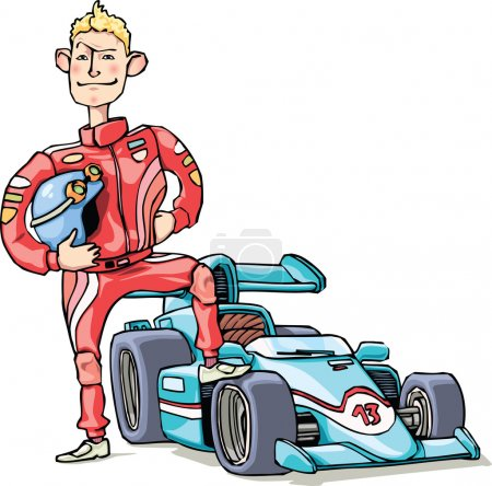 F1 racer and his car