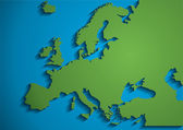 Large green map of europe