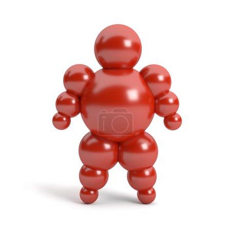 3D abstract Ballman character