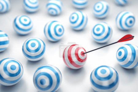Photo for Illustration of the round targets with an arrow in the centre - Royalty Free Image