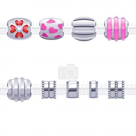 Assorted metal charm beads