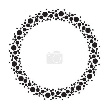 Cadre rond de points noirs