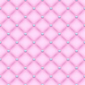 Seamless glam light pink velvet quilted background with silver heart shaped pins