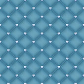 Seamless blue velvet quilted background