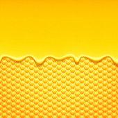 Honeycomb and sweet honey drips