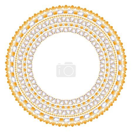 Jewelry round frame with gemstones