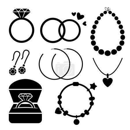 Set of jewelry icons
