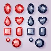 Set of realistic jewel
