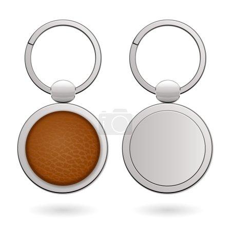 Keychains with empty round trinkets