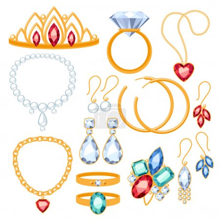 Set of jewelry items.