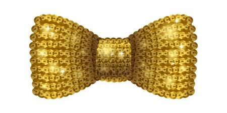 Golden sequins bow tie.