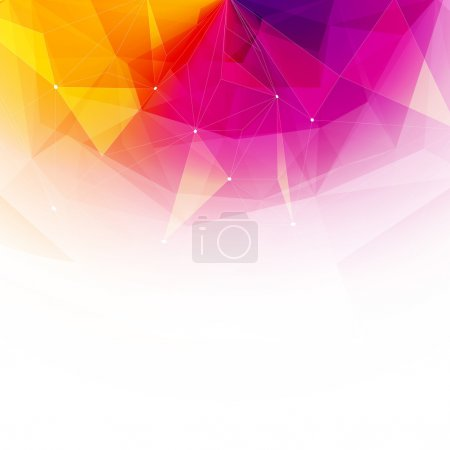 Illustration for Colorful abstract crystal background. Ice or jewel structure. Pink, Yellow and red bright colors. - Royalty Free Image