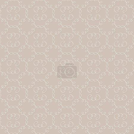 Arabesque vignettes modèle sans couture. Couleur turquoise