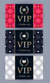 VIP cards with abstract quilted background
