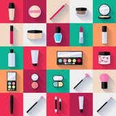 Make-up ploché ikony nastavit