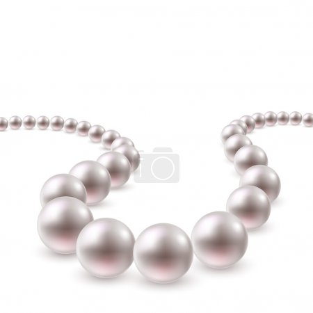 Pearl necklace swirl background.