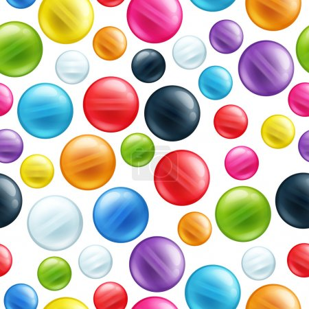 Colorful round beads seamless pattern.