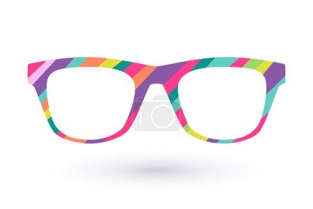 Colorful glasses frame logo icon simbol. Diagonal ...