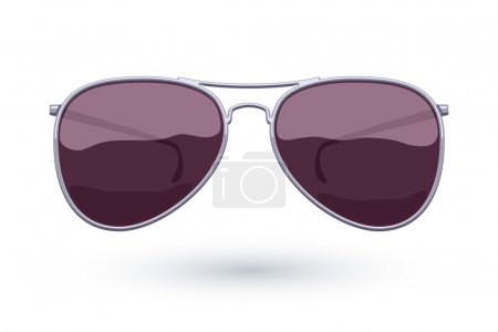 Aviator sunglasses icon fashion vector illustration.