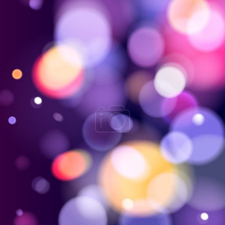 Illustration for Abstract colorful bokeh blurry background. Festive celebration template - Royalty Free Image