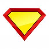 Super man hero empty shield badge template Vector illustration